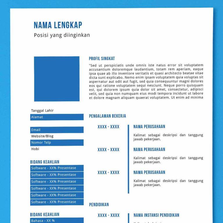 Download Curriculum Vitae Cv Bahasa Indonesia Dan Bahasa Inggris